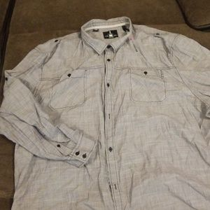I Jeans by Buffalo Mens Button Down Shirt 4XL nwt